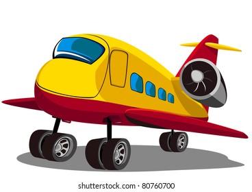 cartoon airplane four