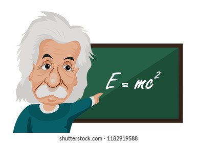 Cartoon Albert Einstein was a German-born theoretical physicist[5] who developed the theory of relativity He is best known to the general public for his mass–energy equivalence formula E = mc2