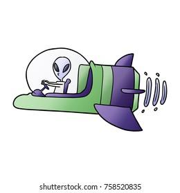 cartoon alien spacecraft