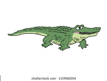 Cartoon alligator smiling