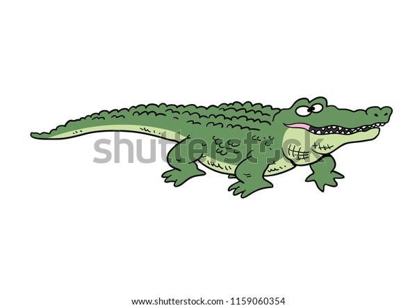 Cartoon alligator smiling