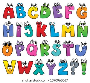 Cartoon alphabet topic image 1 - eps10 vector illustration.
