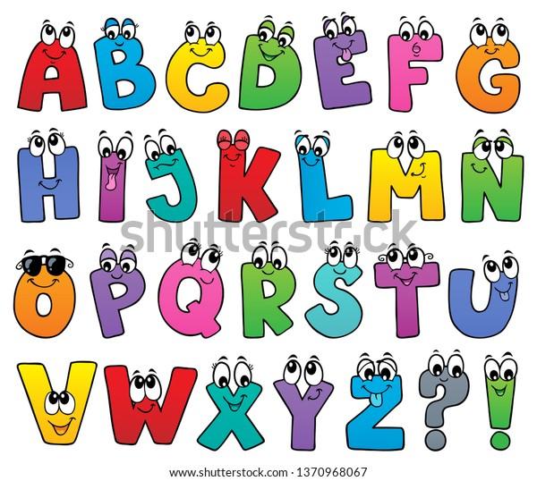 Cartoon alphabet topic image 1 - eps10 vector illustration.