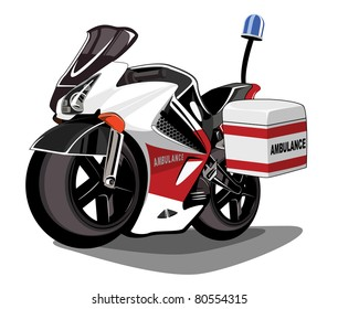 cartoon ambulance motor