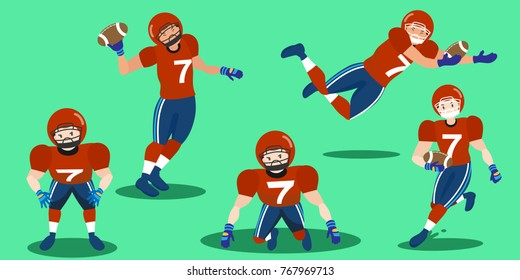 American Football Player White Stock Illustrations Images