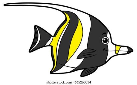 Cartoon Angelfish