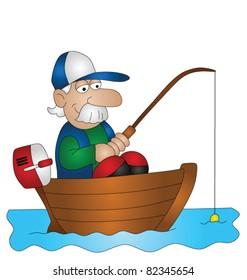 Fishing Boat Cartoon Images Stock Photos Vectors Shutterstock