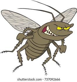 cartoon of an angry cockroach