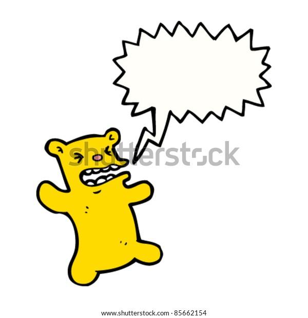 cartoon angry teddy bear