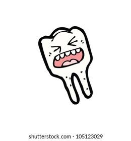 cartoon angry tooth