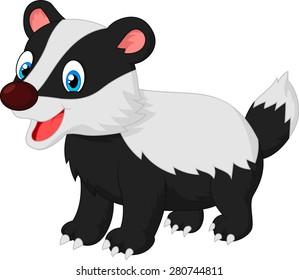 Cartoon animal badger