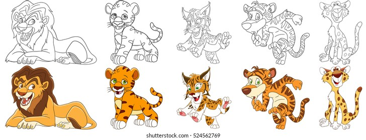 cartoon animal set collection wild 260nw