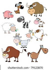 Cartoon Animals Raster Collection