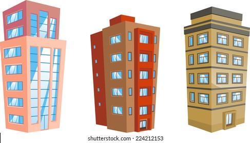 cartoon Apartment Building collection.