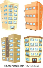 cartoon Apartment Building collection.