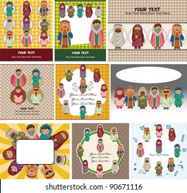 cartoon Arabian peopl card