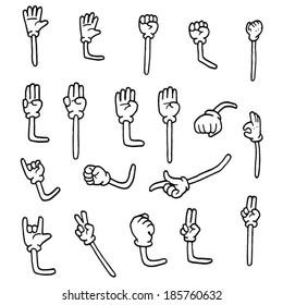 cartoon arms