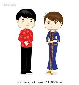 Cartoon ASEAN Singapore