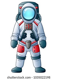 Cartoon Astronaut isolated on a white background