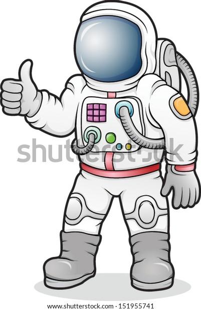 Cartoon Astronaut vector illustration