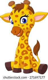 Giraffe Sit Cartoon Images Stock Photos Vectors Shutterstock
