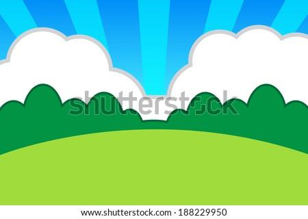 cartoon backdrop vector eps 10 stock vector royalty free 188229950