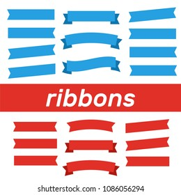 Cartoon banners and comic ribbons. Colored banner ribbon. Banner