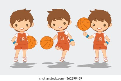 Cartoon of Basketball Player, vector illustration