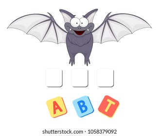 Cartoon bat crossword. Put the letters in the correct order