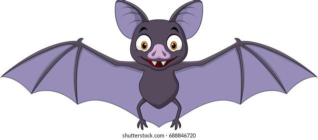cartoon bat isolated on white background - Bat Cartoon