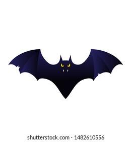 cartoon  bat vampire flying. template for the Halloween. Mystical illustration. Vector bat vampire logo