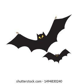 Cartoon Bats isolated on white background