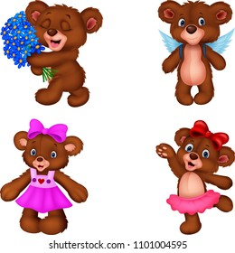 Cartoon bear collection set