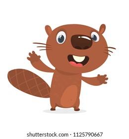 Cartoon beaver character