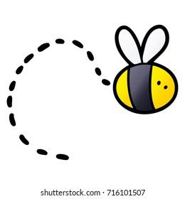 cartoon bee flying