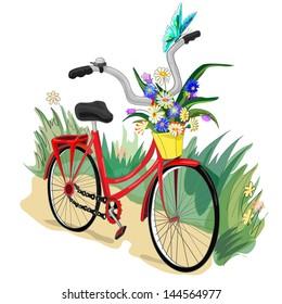 Cartoon Bicycle.Vector Illustration