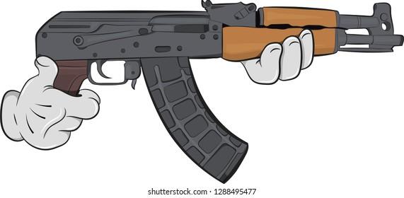Cartoon Big Gun Stick