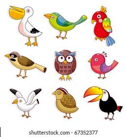 cartoon birds icon