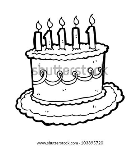 Cartoon Birthday Cake Image Vectorielle De Stock Libre De Droits
