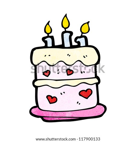 Cartoon Birthday Cake Stock Vector Royalty Free 117900133