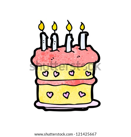 Cartoon Birthday Cake Stock Vector Royalty Free 121425667