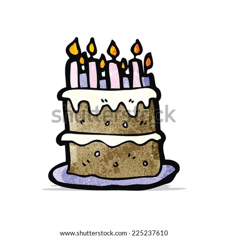 Cartoon Birthday Cake Stock Vector Royalty Free 225237610