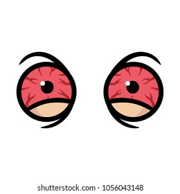 Cartoon Bloodshot Eyes