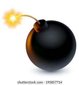 Cartoon bomb ready to explode.