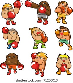 cartoon boxer icon