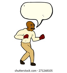 cartoon boxer with speech bubble