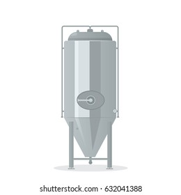 cartoon brewery tank isolated on white background