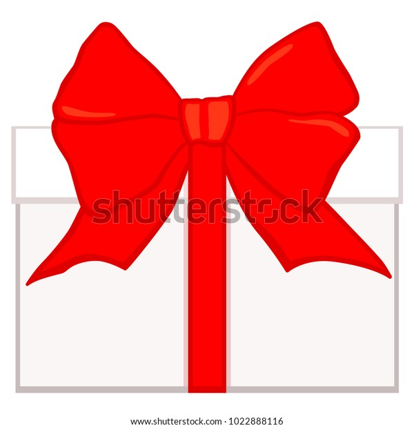 Cartoon Bright Colorful White Gift Box Stock Vector (Royalty