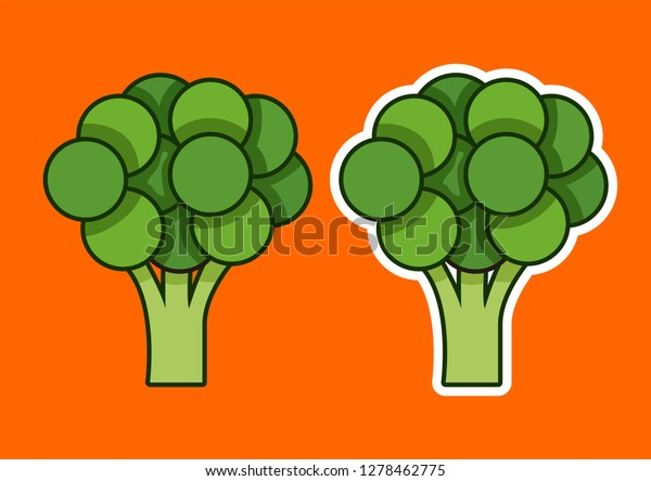 cartoon broccoli vector illustration stock vector royalty free 1278462775 shutterstock