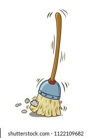 Broom Cartoon High Res Stock Images   Shutterstock